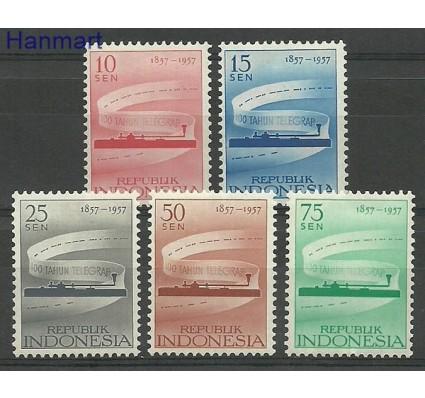 Znaczek Indonezja 1957 Mi 196-200 Z podlepką *