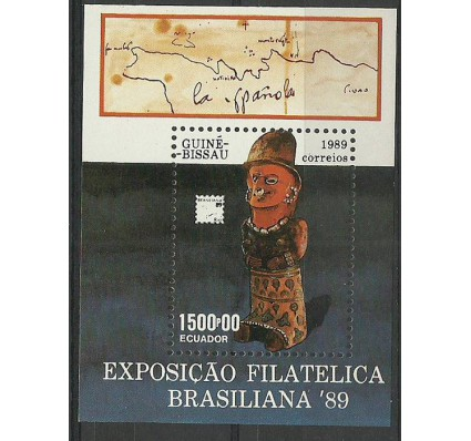 Znaczek Gwinea Bissau 1989 Mi bl 280 Czyste **