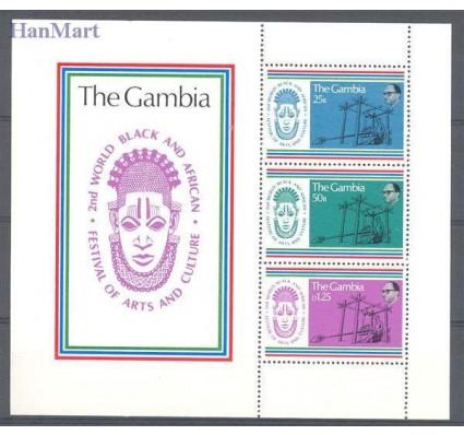 Znaczek Gambia 1977 Mi bl 3 Czyste **