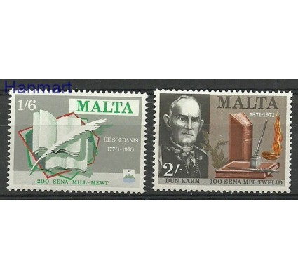 Znaczek Malta 1971 Mi 420-421 Czyste **