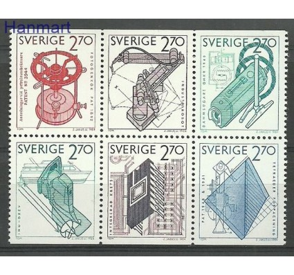 Szwecja 1984 Mi 1282-1287 Czyste **