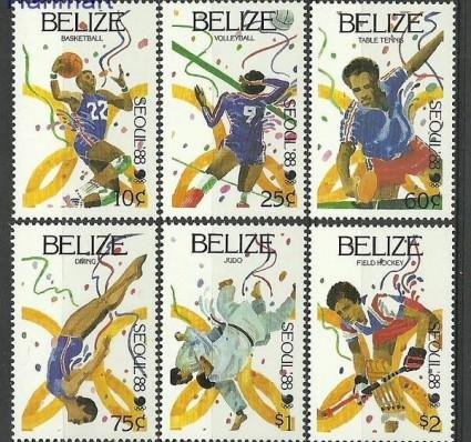 Znaczek Belize 1988 Mi 1003-1008 Czyste **