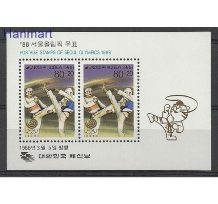 Znaczek Korea Południowa 1988 Mi bl 543 Czyste **