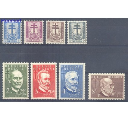 Znaczek Belgia 1953 Mi 979-986 Czyste **