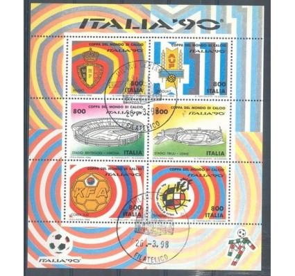 Znaczek Włochy 1990 Mi bl 7 Stemplowane