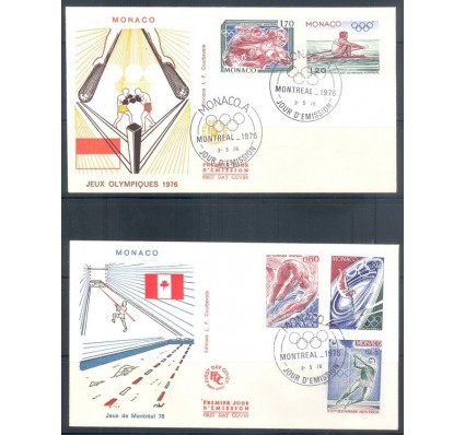 Znaczek Monako 1976 FDC
