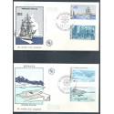 Monako 1977 Mi 1279-1287 FDC