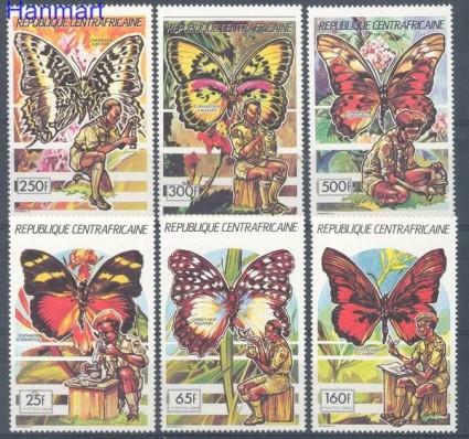 Znaczek Republika Środkowoafrykańska 1990 Mi 1418-1423 Czyste **