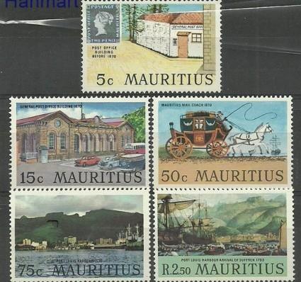 Znaczek Mauritius 1970 Mi 366-370 Czyste **