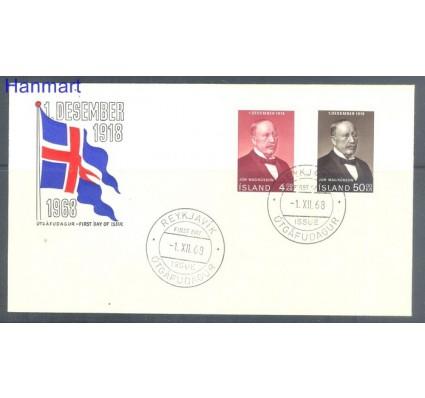 Znaczek Islandia 1968 Mi 424-425 FDC