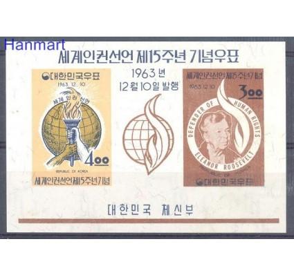 Znaczek Korea Południowa 1963 Mi bl 183 Z podlepką *