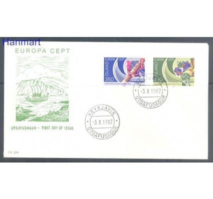 Znaczek Islandia 1982 Mi 578-579 FDC