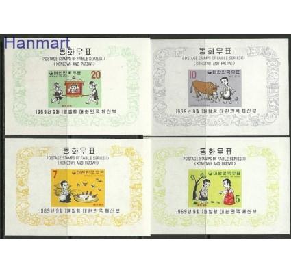 Znaczek Korea Południowa 1969 Mi bl 286-289 Czyste **