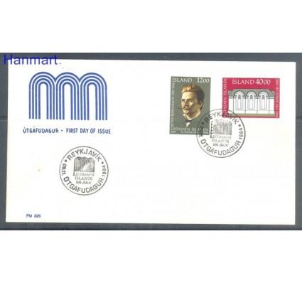 Znaczek Islandia 1984 FDC