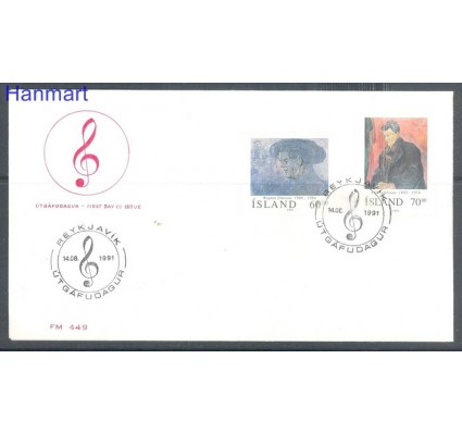 Znaczek Islandia 1991 Mi 751-752 FDC