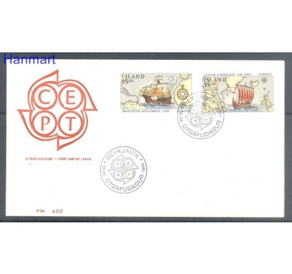 Znaczek Islandia 1992 Mi 762-763 FDC