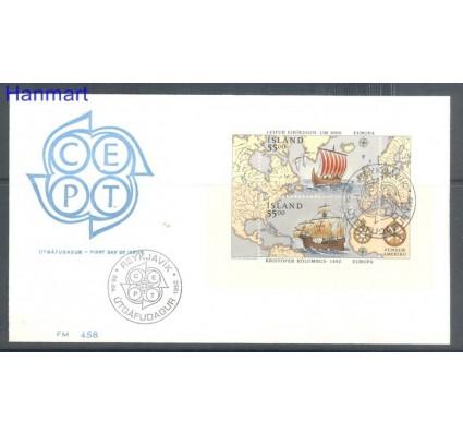 Znaczek Islandia 1992 Mi bl 13 FDC
