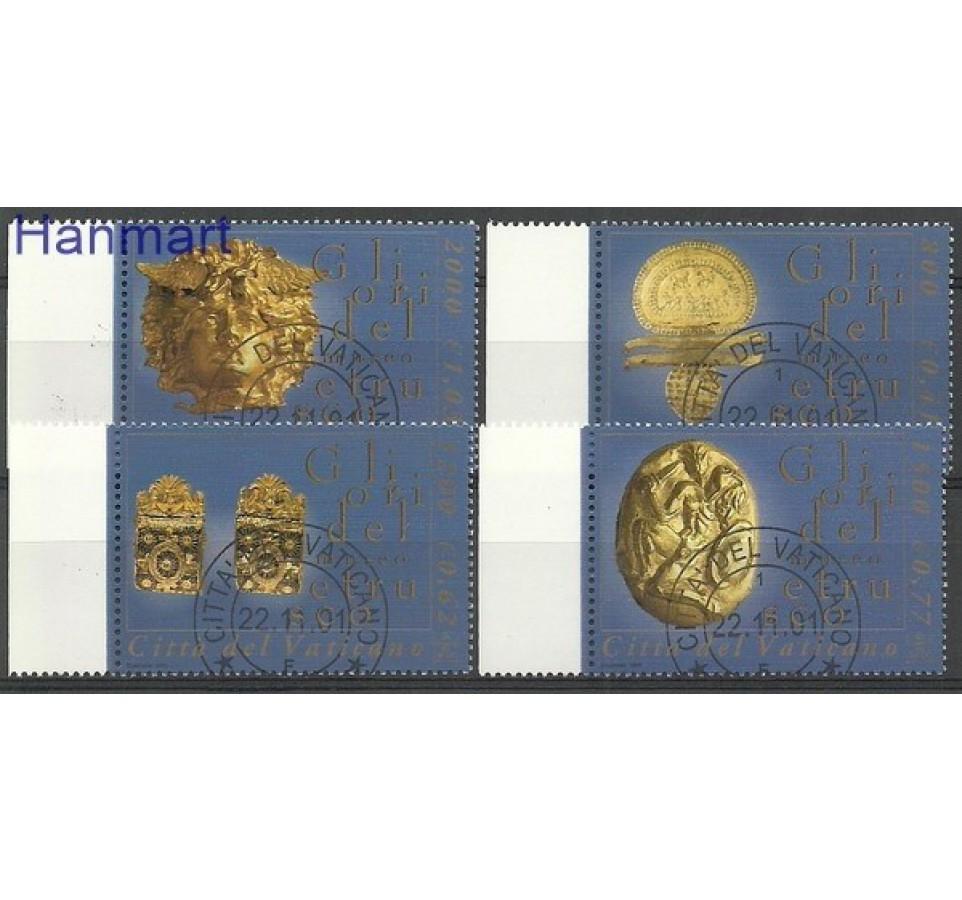 Watykan 2001 Mi 1386-1389 Stemplowane