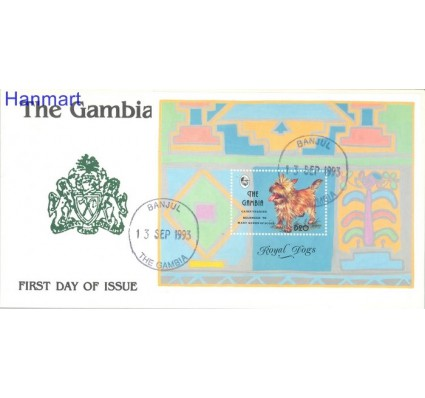 Znaczek Gambia 1993 Mi bl 199 FDC