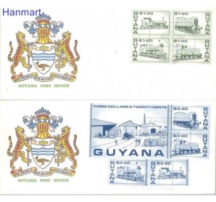 Znaczek Gujana 1987 Mi 1917-1926 FDC