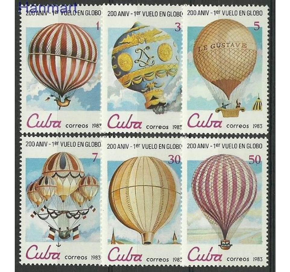 Kuba 1983 Mi 2725-2730 Czyste **