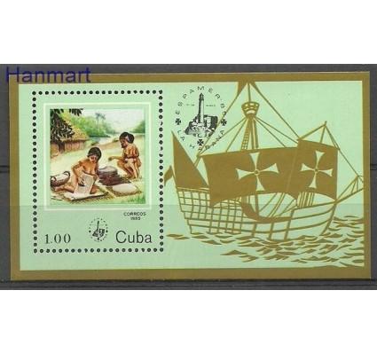 Znaczek Kuba 1985 Mi bl 89 Czyste **