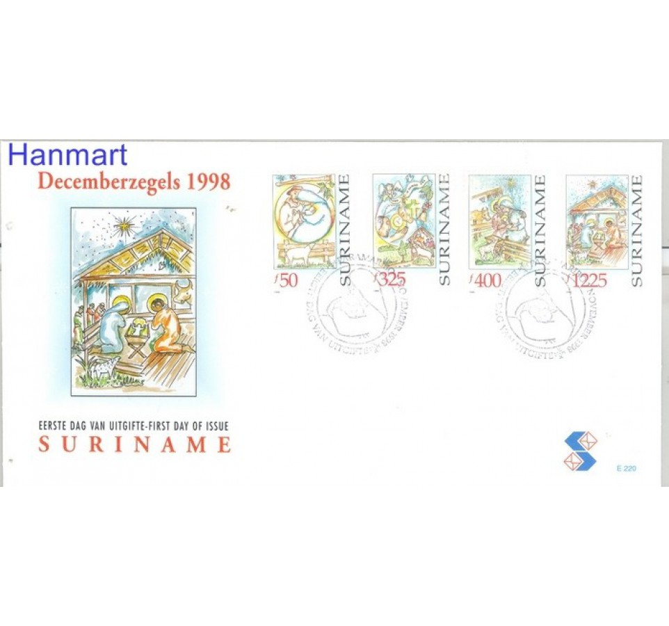 Surinam 1998 Mi 1666-1669 FDC