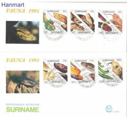 Znaczek Surinam 1991 Mi 1379-1390 FDC