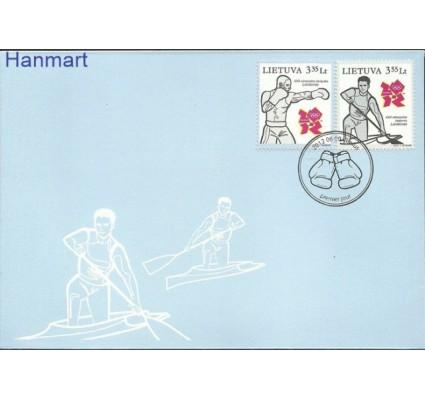 Znaczek Litwa 2012 Mi 1108-1109 FDC