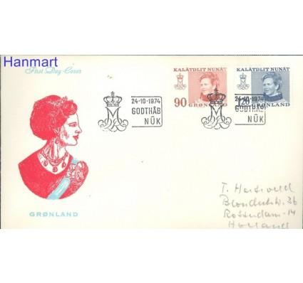 Znaczek Grenlandia 1974 FDC