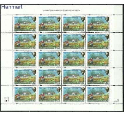 Znaczek Polska 1998 Mi 3737-3740 Fi ark 3589-3592 Czyste **