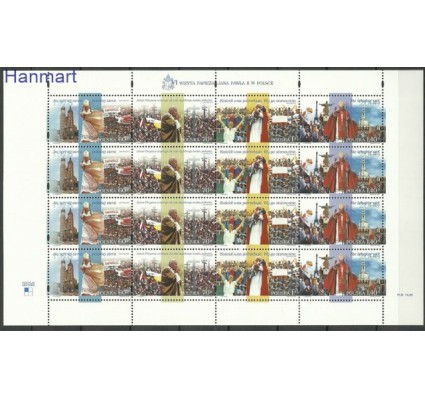 Polska 1999 Mi ark 3768-3771I Fi ark 3620-3623I Czyste **