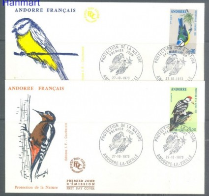Znaczek Andora Francuska 1973 Mi 253-254 FDC