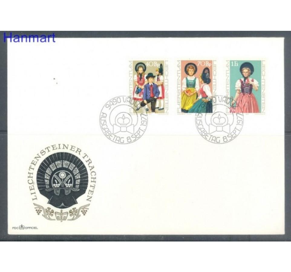 Liechtenstein 1977 Mi 684-686 FDC