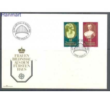 Znaczek Liechtenstein 1980 Mi 741-742 FDC