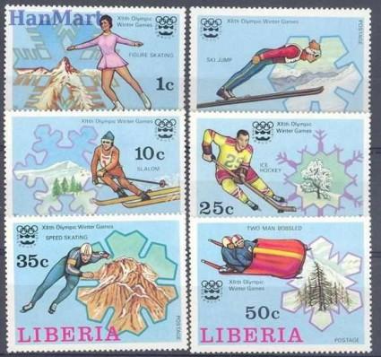 Znaczek Liberia 1976 Mi 980-985 Czyste **