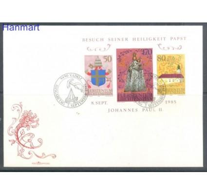 Znaczek Liechtenstein 1985 Mi bl 12 FDC