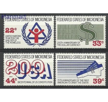 Mikronezja 1987 Mi 68-71 Czyste **