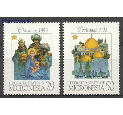 Znaczek Mikronezja 1993 Mi 317-318 Czyste **