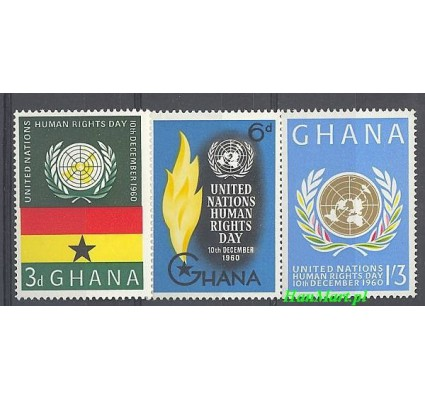 Ghana 1960 Mi 91-93 Czyste **