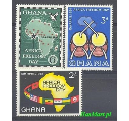 Znaczek Ghana 1961 Mi 94-96 Czyste **