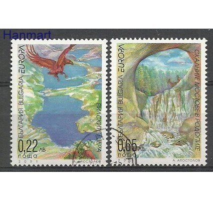 Znaczek Bułgaria 2001 Mi 4512-4513 Stemplowane