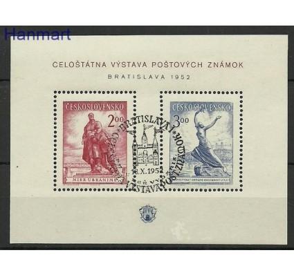 Znaczek Czechosłowacja 1952 Mi bl 13 Stemplowane