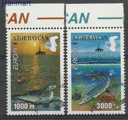 Znaczek Azerbejdżan 2001 Mi 494-495 Stemplowane