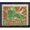Litwa 1921 Mi 101 Z podlepką *