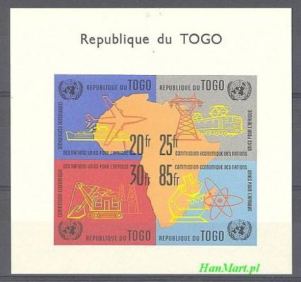 Znaczek Togo 1961 Mi bl 6 Czyste **