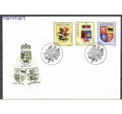 Znaczek Litwa 1999 Mi 709-711 FDC