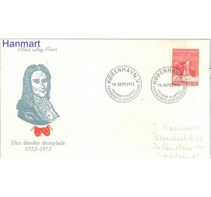 Znaczek Dania 1972 FDC