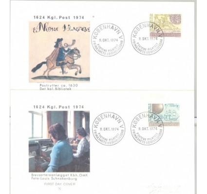 Znaczek Dania 1974 Mi 577-578 FDC