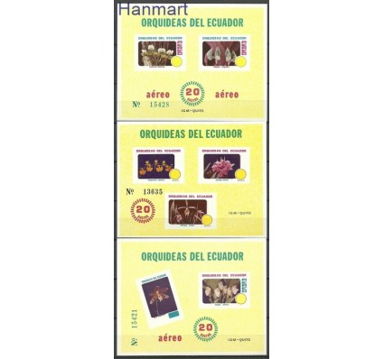 Znaczek Ekwador 1980 Mi bl 100-102 Czyste **